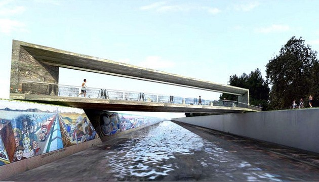 Great Wall of Los Angeles Finally Gets Its Bridge