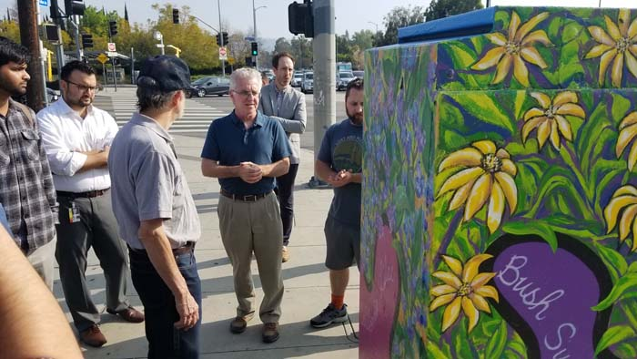 Krekorian walk at painted utility box