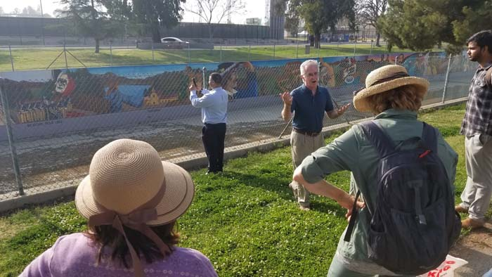 Krekorian walk at great mural