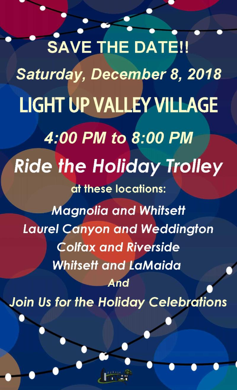 Light Up Valley Village, Ride the Trolley