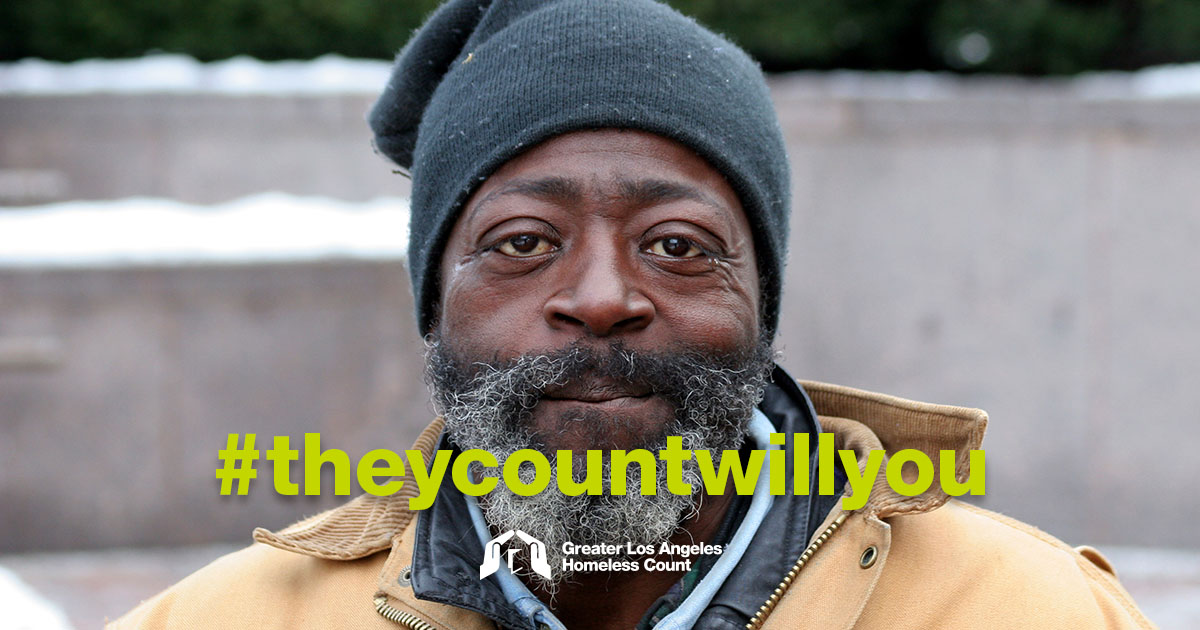 They count will you. Greater LA Homeless Count