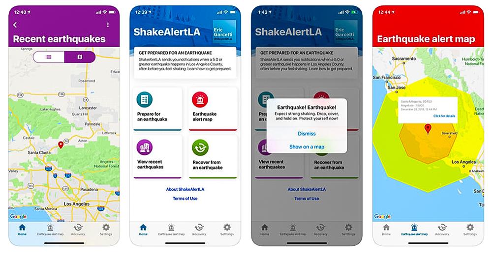 ShakeAlertLA app