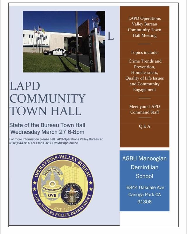 LAPD Town Hall March 27