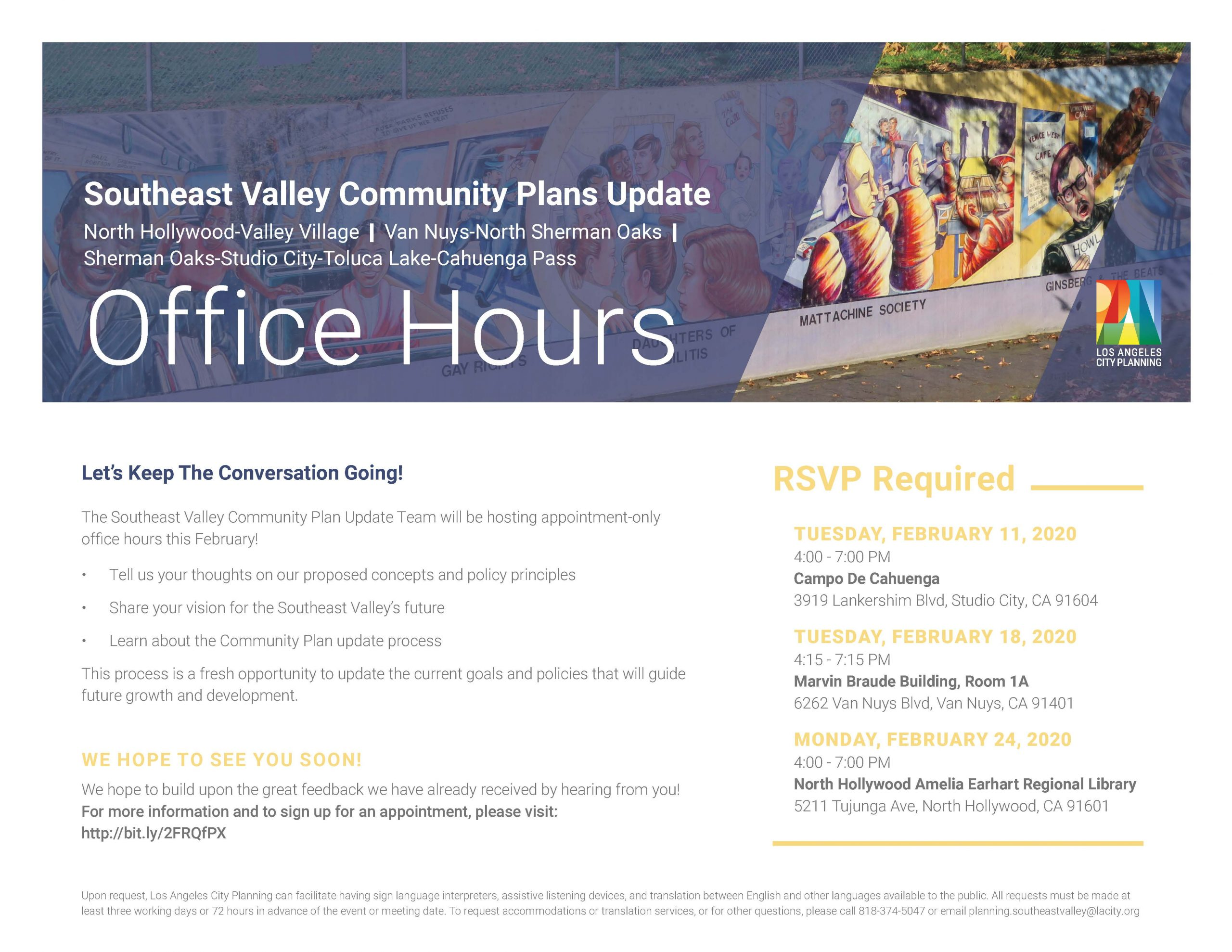 Community Plans Office Hours