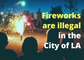 Fireworks are dangerous and illegal