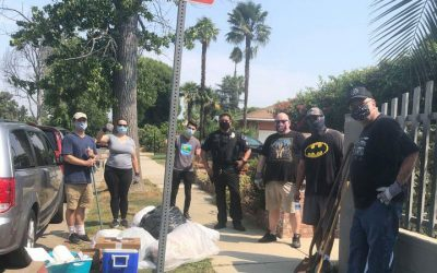 Neighbors Gather for August Clean Up