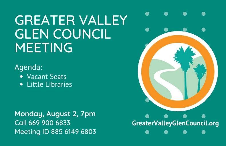 Valley Glen August Meeting