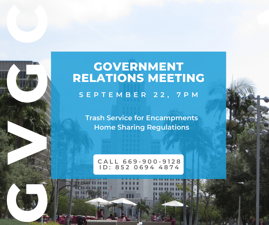 Gov Relations Meeting